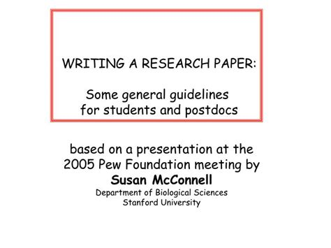 writing a research paper powerpoint ppt writing a research paper some general guidelines