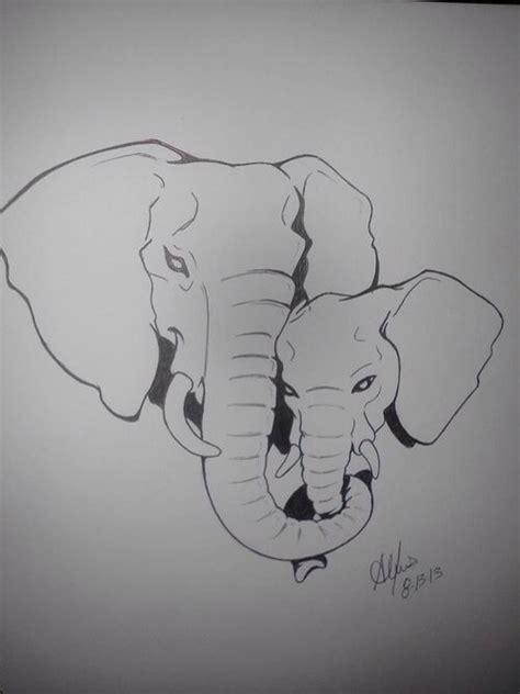 olifant getekend knutselen pinterest couple drawings