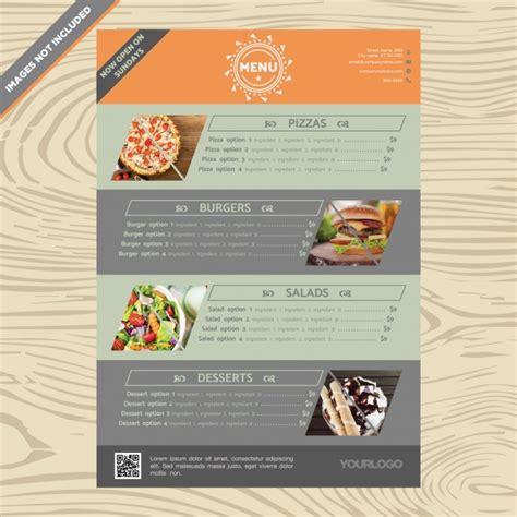 Restaurant Menu Template Vector Free Download Deli Menu Templates Free Downloads