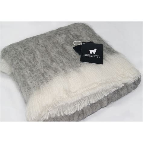 Throw Rugs by Australian Brushed Alpaca Throw Rug Grey Plain