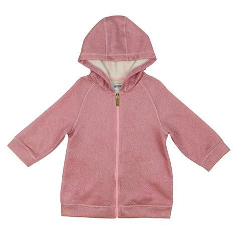 Rsby 494 Hodie Jacket Pink Print moschino sparkly pink hoodie with a pink print on
