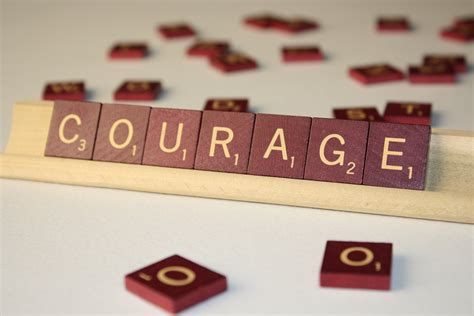 is du a scrabble word be brave courage is the character trait of march