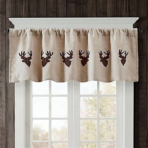 woolrich curtains woolrich deer faux suede valance bed bath beyond