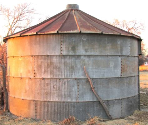 Grain Bin Shed by 2 Large Steel Grain Bins Or Storage Sheds Ptci