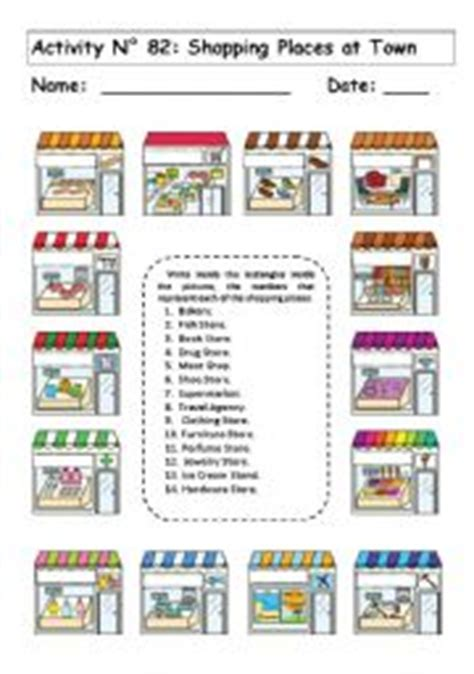 shops in my town worksheet free esl printable worksheets english teaching worksheets going shopping