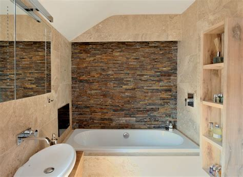 Brick Wall Tiles Bathroom by Project One Wales Features In Real Homes Magazine