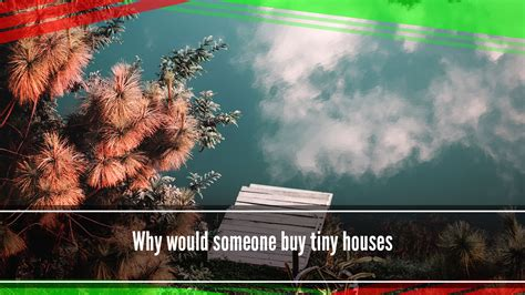 buy tiny house why would someone buy tiny houses