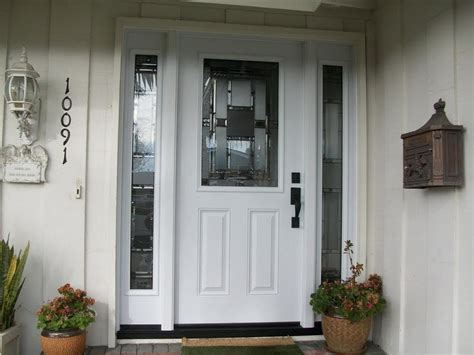 Front Doors For Homes Lowes Front Door With Sidelights At Lowes Modern Home Interiors Functional Front Door With Sidelights