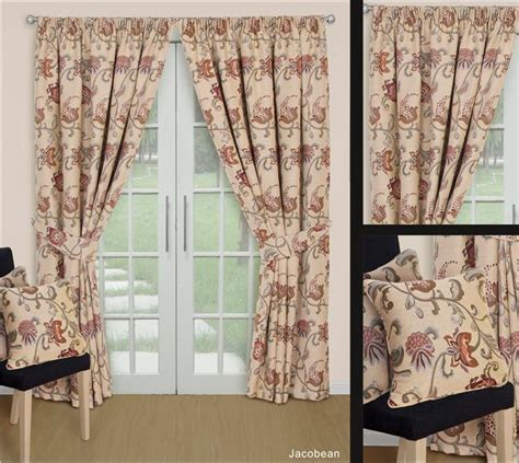 tapestry curtains lined natural tapestry jacquard curtains ties 8 sizes