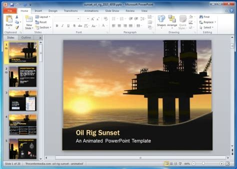 powerpoint templates free oil animated oil pumping powerpoint template