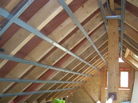 Montage Rail Plafond by Rail Placo Pour Plafond En Pente Communaut 233 Leroy Merlin