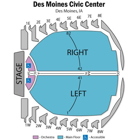 des moines civic center seating view west side story february 10 tickets des moines des