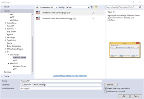 c windows form template updating the look of winforms controls componentone