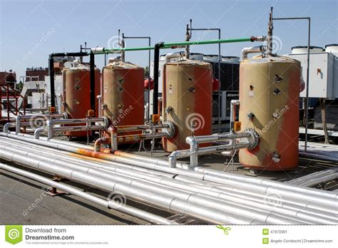 heat l for plants industrial thermal plant system boiler stock photo