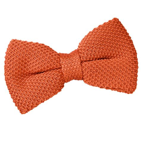 Knit Bow Tie s knitted burnt orange bow tie