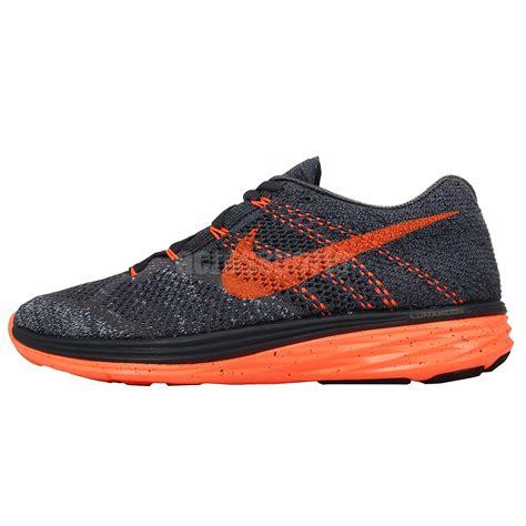nike lunarlon mens running shoes nike flyknit lunar3 grey orange 2015 mens running shoes