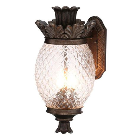 Pineapple Outdoor Lighting Monteaux Lighting Wall Mount 21 In Bronze Outdoor Pineapple Coach Light 1000 009 520 The Home