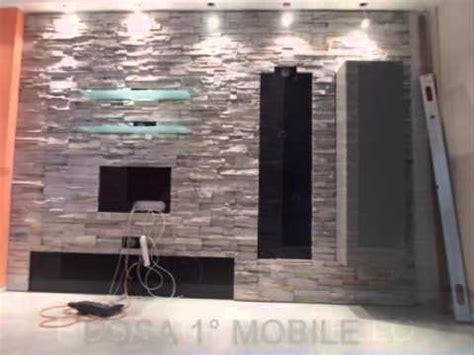 soggiorno con muro in pietra soggiorno con boiserie pietra ricostruita