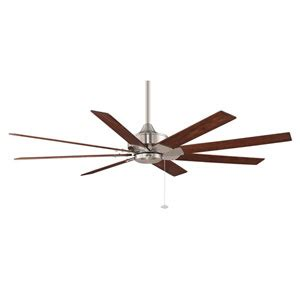 fanimation levon 63 inch brushed nickel ceiling fan fanimation levon black 63 inch energy ceiling fan on sale