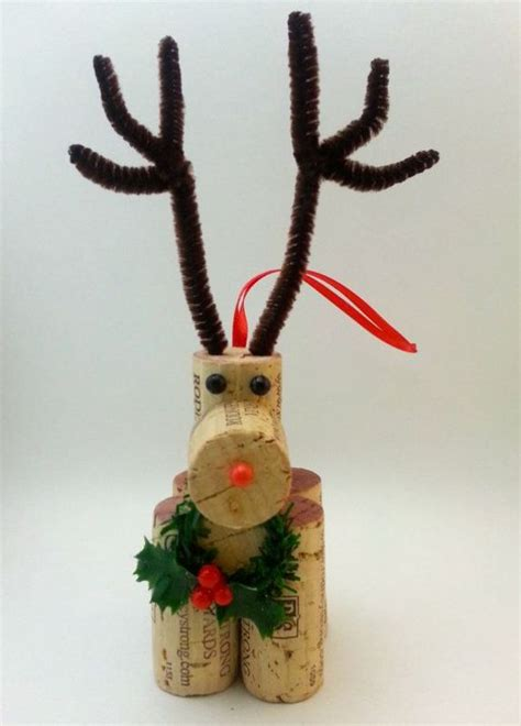 30 creative diy wine cork christmas ornaments ideas magment