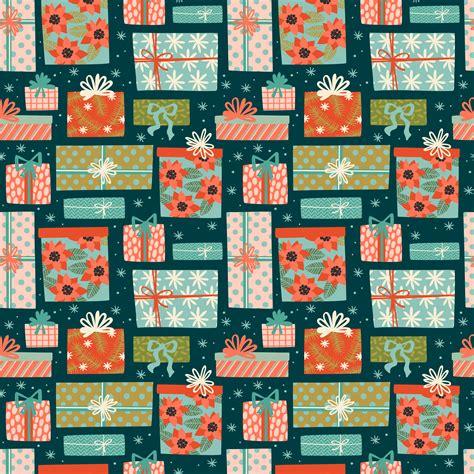 christmas  happy  year seamless pattern  gift