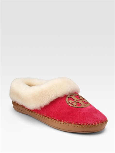 burch slipper lyst burch coley suede shearlinglined slippers in