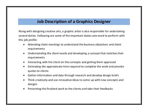 graphics design description graphic designer resume sle pdf