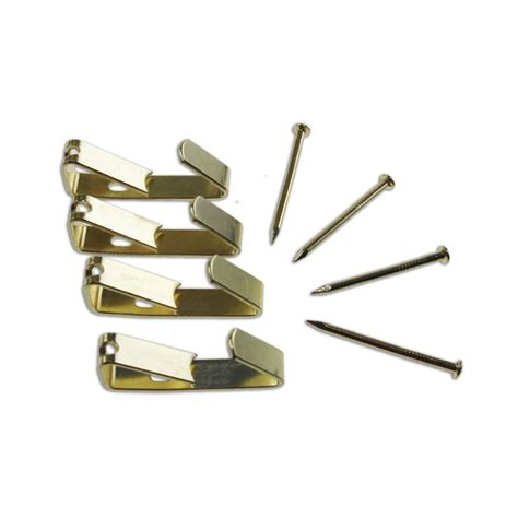 picture hanging tic 4kg brass plated picture hanging angle drive hooks 4