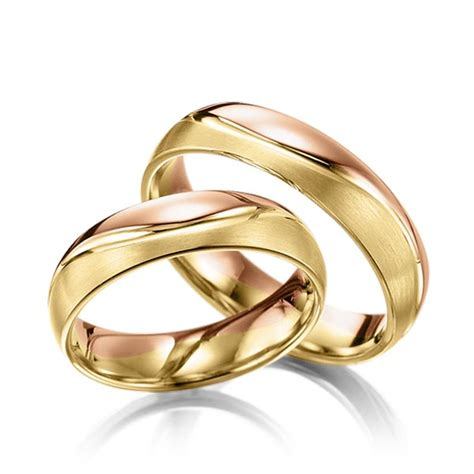 Trauringe Gelbgold 585 by Trauringe Rotgold 585 Gelbgold 585 Q 1389 17 Trauringe