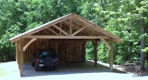 Timber Car Port by Timber Frame Carport Workshop Rustic Garage And Shed Atlanta