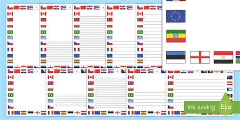 flags of the world twinkl flags of the world page borders flags of the world flags