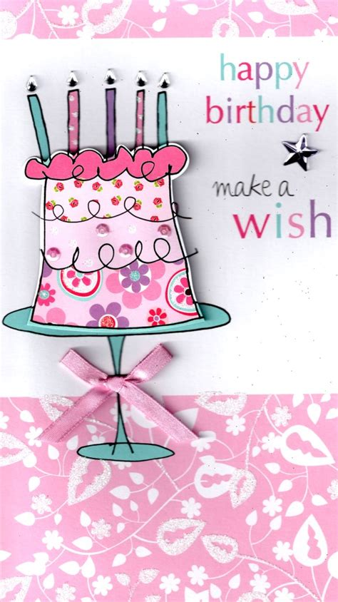 Make Happy Birthday Card Free Make A Wish Happy Birthday Greeting Card Cards Love Kates