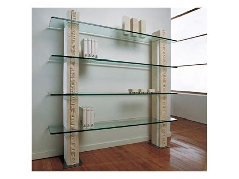 white bookcase with glass shelves idfdesign