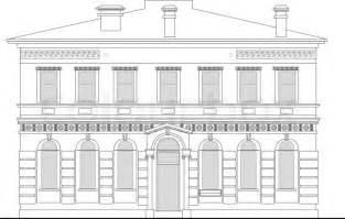 Architecture Free Online Floor line drawing illustration of a heritage mansion building