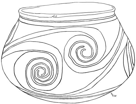 free coloring pages of pottery
