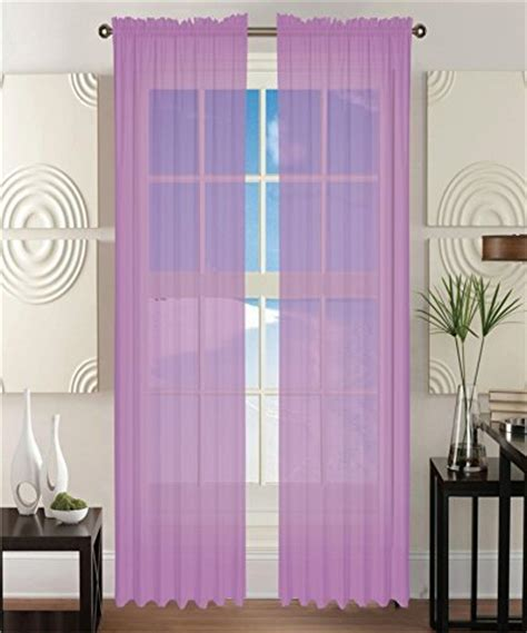 Lavender Window Curtains 2 Solid Lavender Purple Sheer Window Curtains Drape Panels Treatment 60 Quot W X 84