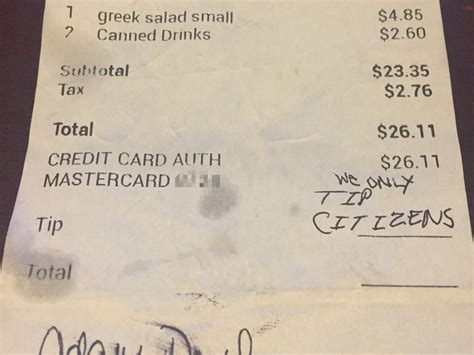Tip Check For Messages by Waitress In Virginia Gets Message Instead Of