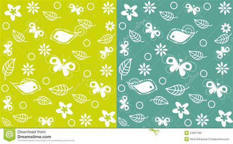 Decorative Butterflies With by Decorative Seamless Background With Butterflies Stock