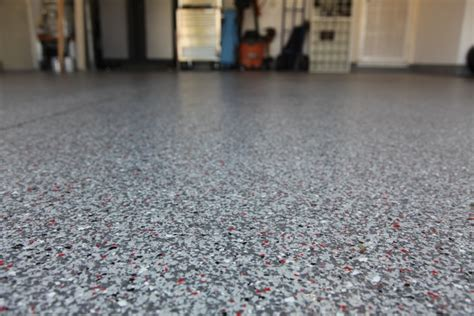 Garage Sizes Standard color flake concrete solutions decorative garage flooring
