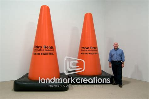 giant inflatable safety cone replicas  volvo rents
