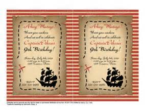 items similar to printable birthday pirate invitation chic by shabby chic crafts