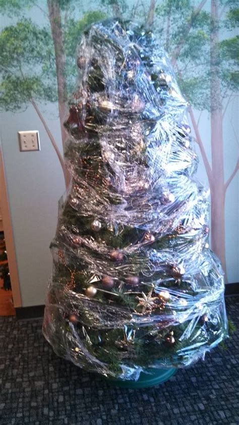 shrink wrap your christmas tree before you put it away