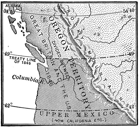 map of oregon territory 1846 the oregon country