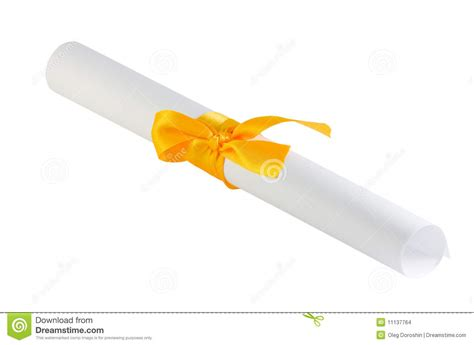 How To Fold Paper Ribbon - folded paper with a yellow ribbon stock images image