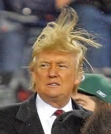 Trump bad hair day