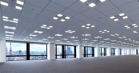 Building Ceiling by Project Led Quot Iino Building Quot Tenant Office Floor Led And Smart Technology Toshiba Lighting