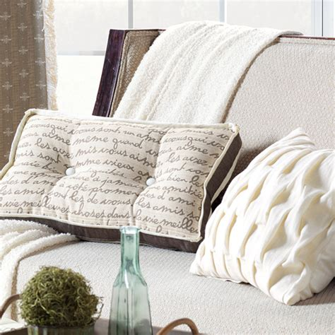 bedding decorative pillows daphne pleated decorative pillow in ivory white and