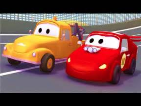 Cars Pictures Tom The Tow Truck And The Racing Car In Car City Trucks