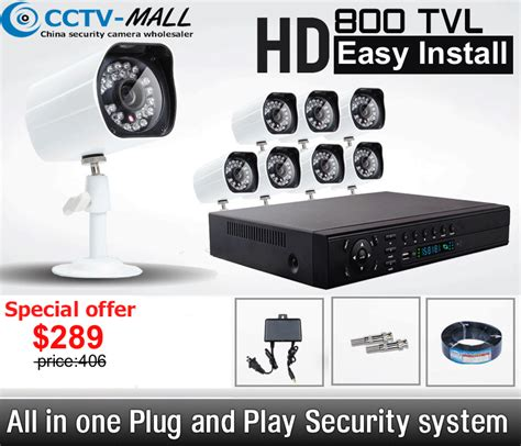 wholesale 8 channel home surveillance system 800tvl 8