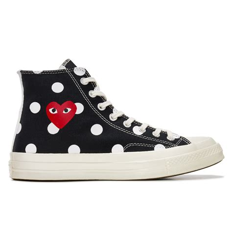 Jual Converse X Cdg play converse polka dot chuck all 70 high black